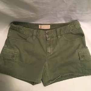 womens Hipster Olive Green Size 7 Shorts Cargo